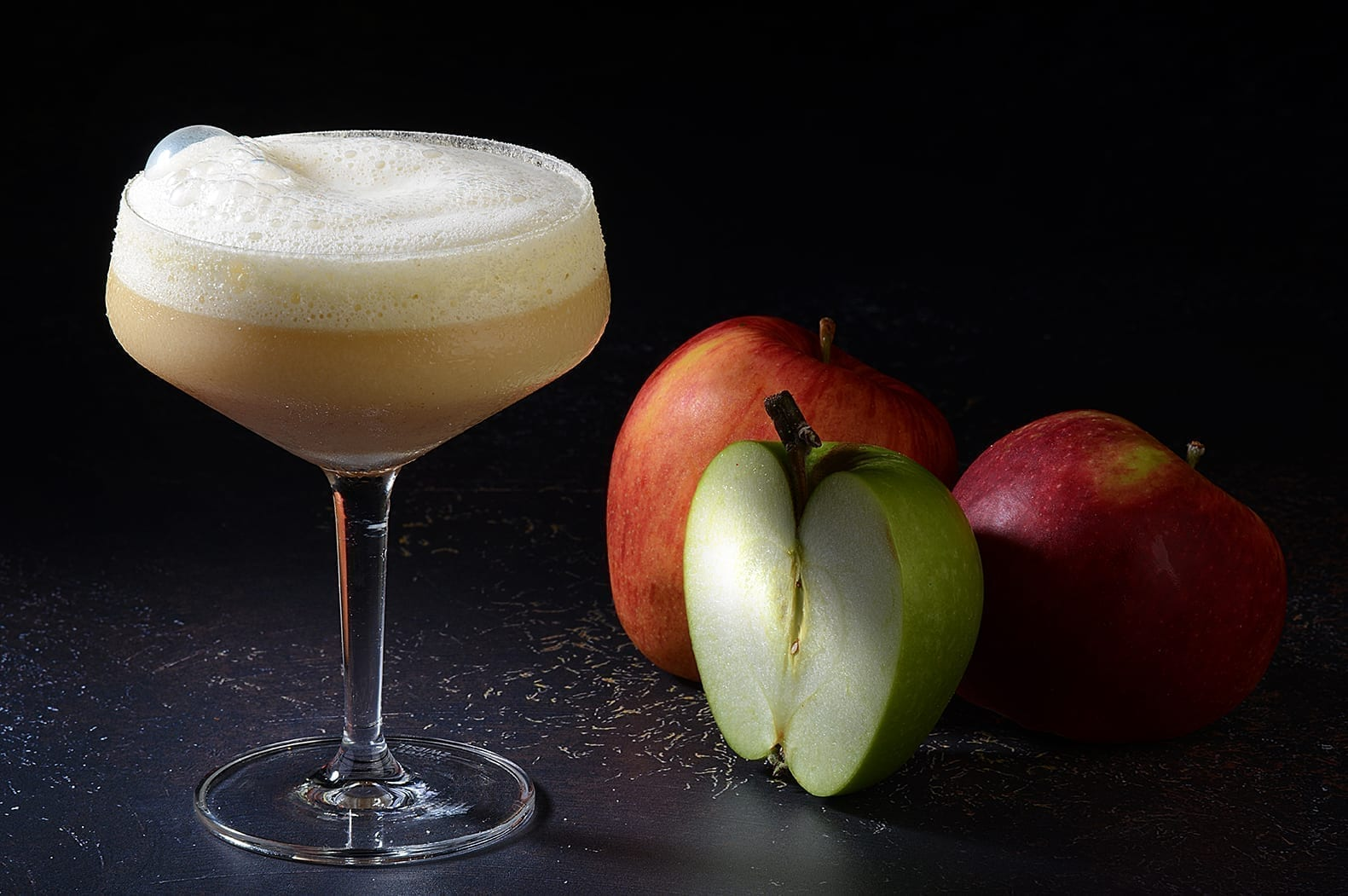 Scorched apple crumble cocktail